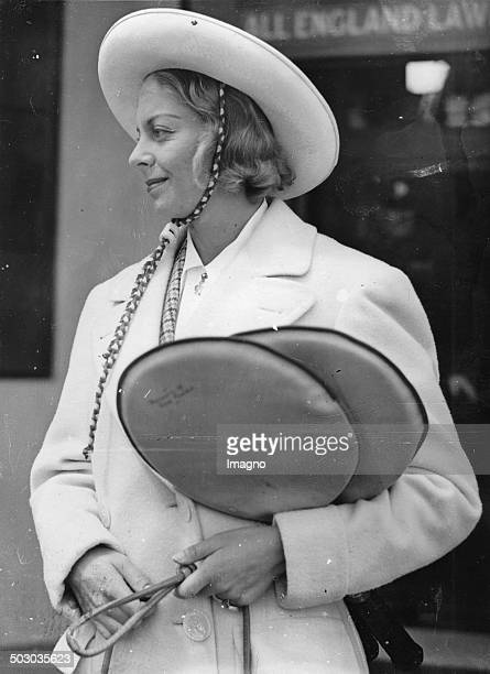 The American tennis player Alice Marble with sombrero London 10th June 1938 Photograph