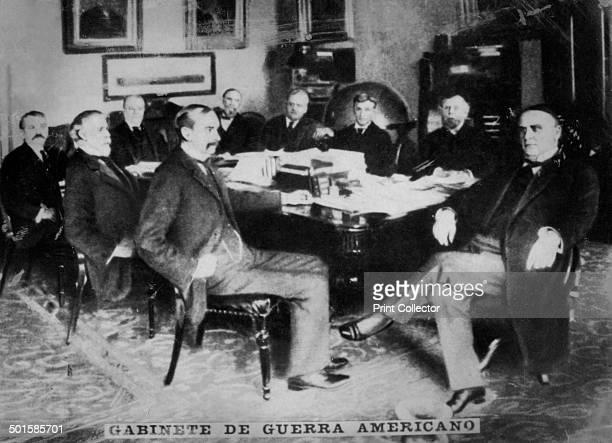 The American War cabinet under William McKinley 1898 The cabinet included John Sherman Lyman J Gage Russell A Alger John Davis Long Cornelius Newton...