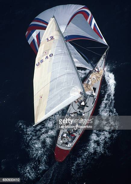 The American yacht Liberty in action during the second race of the America's Cup series in Newport Rhode Island 15th September 1983 In September 1983...