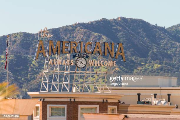 the americana at brand - san fernando california stock photos and pictures