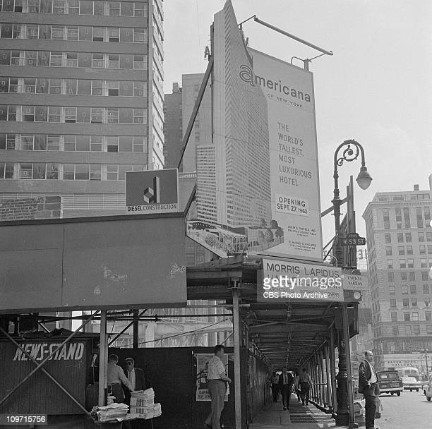 The Americana Hotel under construction at 811 Seventh Avenue New York City Image dated May 31 1962