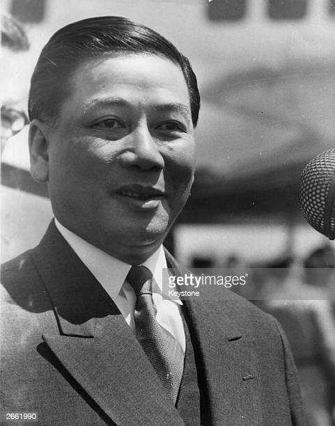 The Americanaided leader of South Vietnam's anticommunist Roman Catholic regime President Ngo Ding Diem