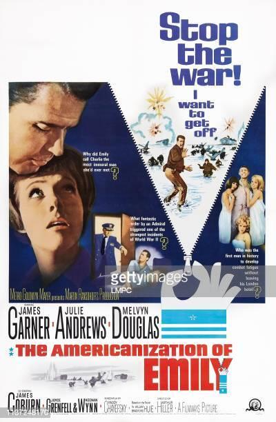 The Americanization Of Emily poster lr James Garner Julie Andrews James Coburn Kathy Kersh janine Gray poster art 1964