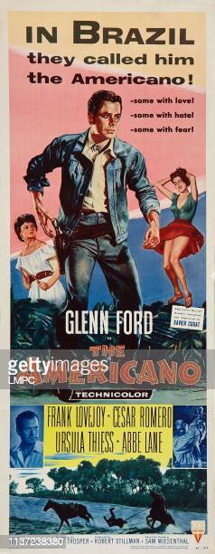 The Americano poster US poster top from left Ursula Thiess Glenn Ford Abbe Lane Frank Lovejoy 1955