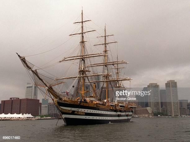 The Amerigo Vespucci in Boston Harbor during Sail Boston on July 16 2000