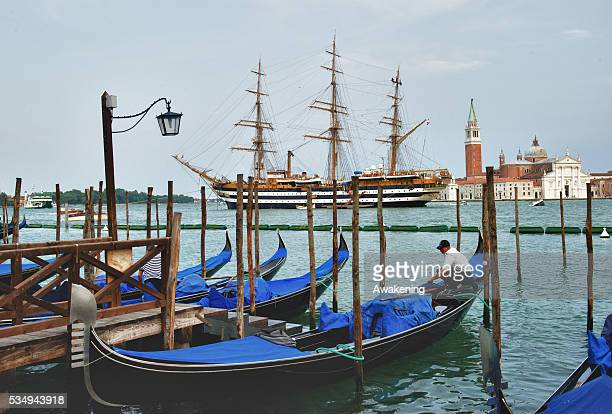 The Amerigo Vespucci is a tall ship of the Marina Militare named after the explorer Amerigo Vespucci Its home port is Livorno Italy and it is in use...