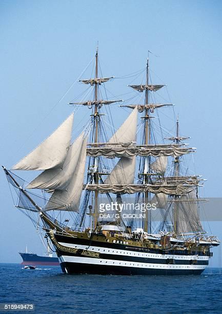 The Amerigo Vespucci sailing ship Italian Navy training ship Italy 20th century