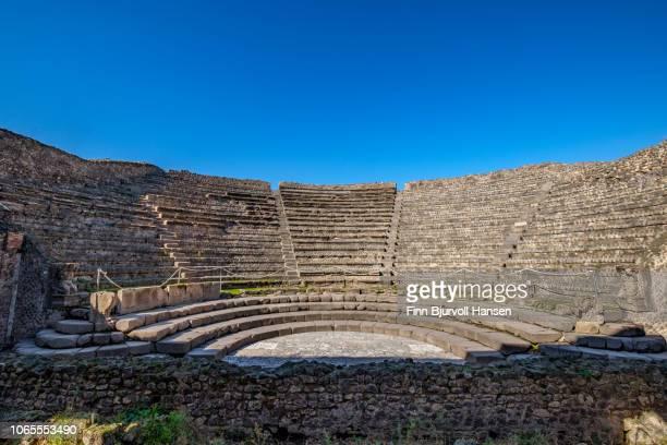 the amfi piccolo in the city of pompeii italy - 円形劇場 ストックフォトと画像