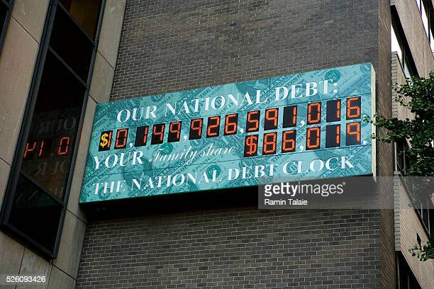 The amount of the US national debt is shown on the National Debt Clock in New York In a sign of the times the National Debt Clock has run out of...