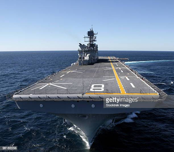 The amphibious assault ship USS Makin Island in the Gulf of Mexico.