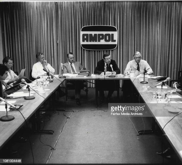 The Ampol Company today held a Press conference at Ampol HouseThe Managing Director Mr AE Harris gave the statement He is shown during the Press...