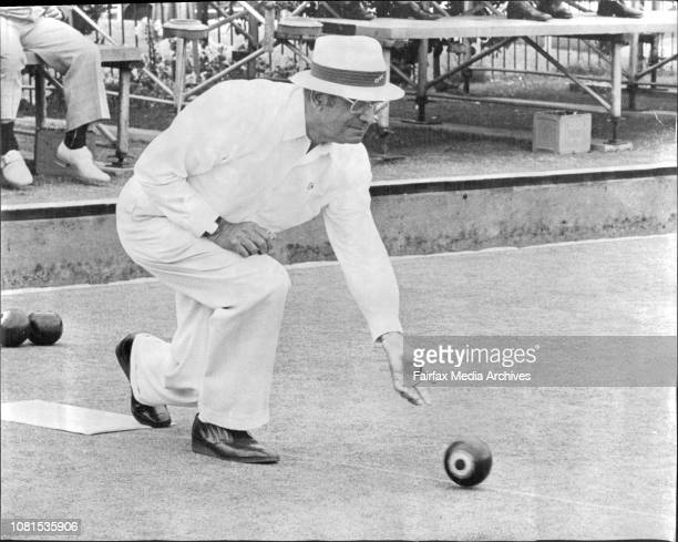 The Ampol Master of Champions lawn BowlsAt the City Bowls ClubCal Matha of the City Bowling Club during practice for the Final December 5 1975