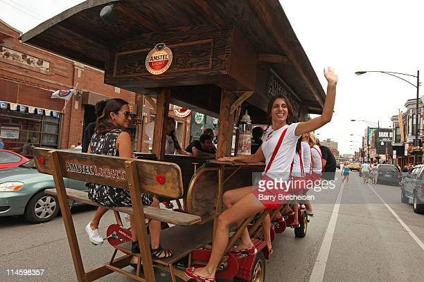The Amstel Light Beer Bike at the Amstel Light Amsterdam Live event at Metro on July 24 2009 in Chicago Illinois