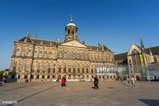 The Amsterdam Dam square and Royal Palace