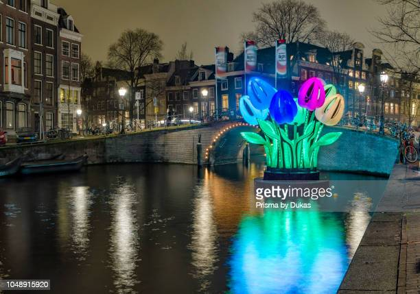 The Amsterdam Light Festival art project Herengrachtcanal
