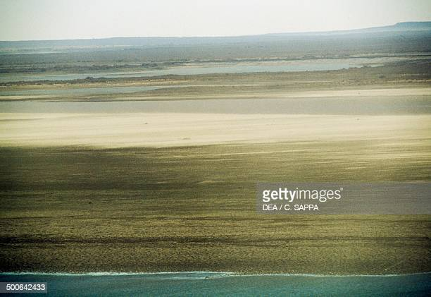 The Amu Darya river Kyzyl Kum desert Uzbekistan