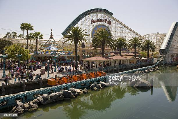 The amusement park at Paradise Pier and California Screamin' roller coaster in Disney's California Adventure are viewed in this 2010 Anaheim...