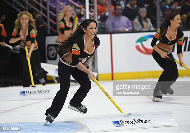 The Anaheim Ducks Power Players during an NHL game between the Detroit Red Wings and the Anaheim Ducks on January 04 at Honda Center in Anaheim CA...