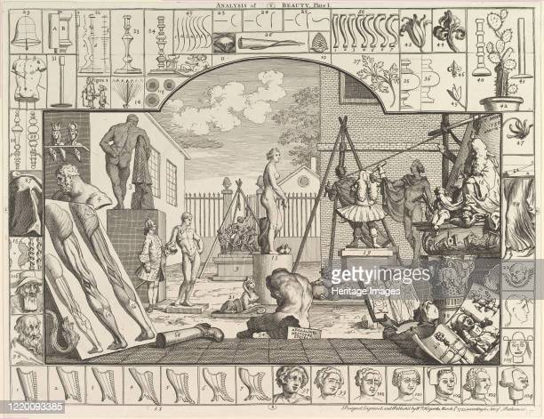 The Analysis of Beauty, Plate 1, March 5, 1753. Artist William Hogarth.