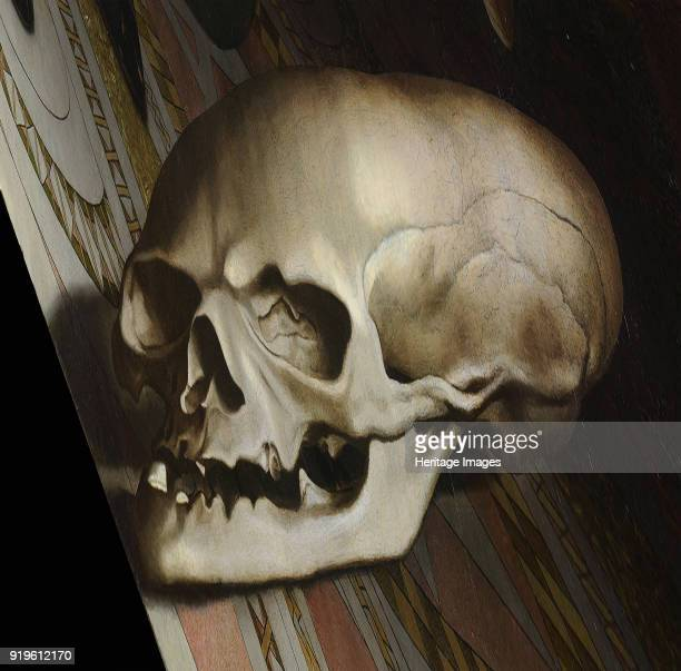 The anamorphic skull The Ambassadors 1533 Found in the Collection of National Gallery London
