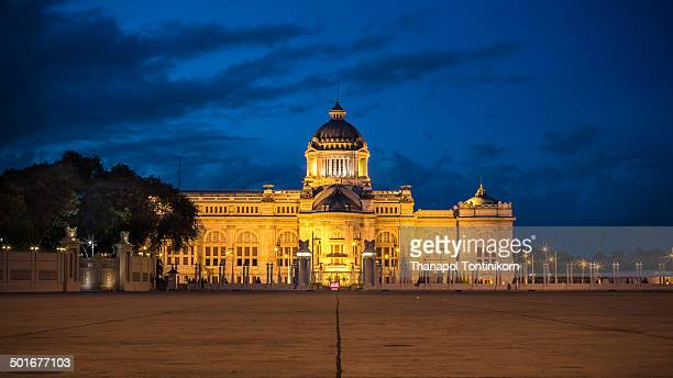 The Ananta Samakhom Throne Hall, also known as the old Parliament building. Dusit Palace Park, Bangkok, Thailand