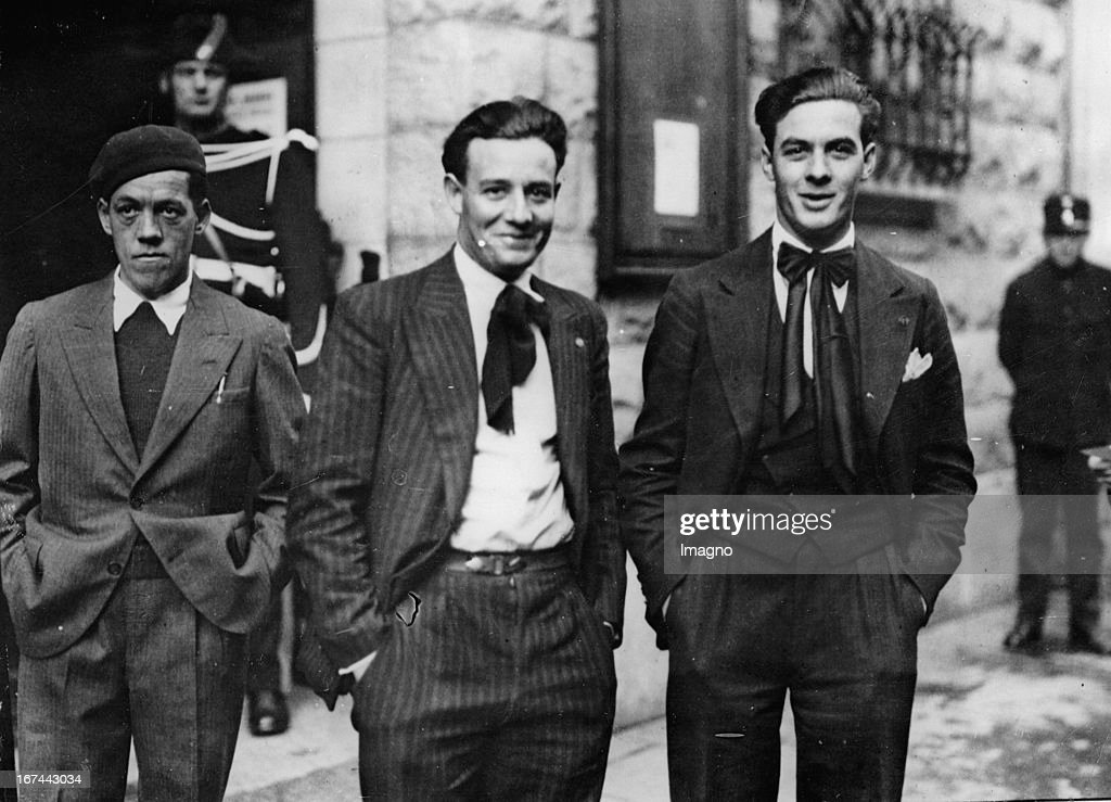 The anarchists (rebellion on 9th November 1932 in Geneva) Tronchet brothers. 1933. Photograph. (Photo by Imagno/Getty Images) Die als Anarchisten (Aufstand am 9. November 1932 in Genf) bezeichneten Brüder Tronchet. 1933. Photographie.