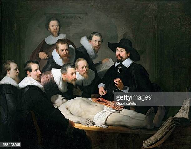 The Anatomy Lesson of Dr Nicolaes Tulp by Rembrandt Harmensz van Rijn oil on canvas in the Koninklijk Kabinet Mauritshuis The Hague Netherlands