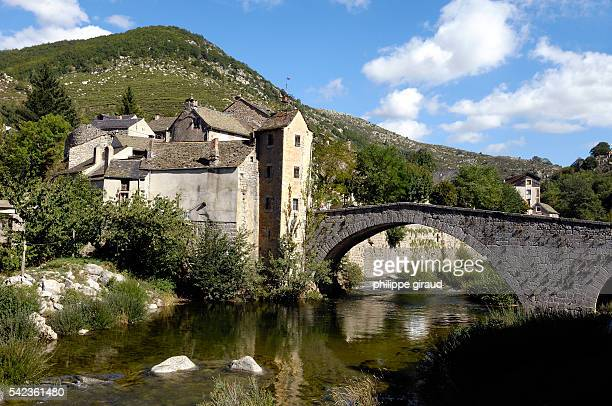 The ancient bridge of Montvert in the Cevennes region