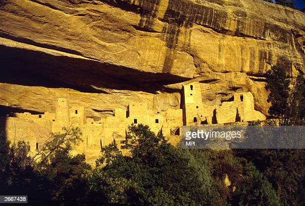 The ancient cliff dwellings at Mesa Verde, Colorado, thought to have been inhabited by the Anasazi in the 13th century.