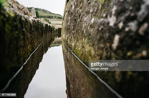 The ancient Cumbe Mayo aqueduct in northern Peru