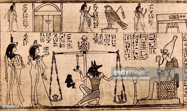 The ancient Egyptians believed that when they died they would be judged on their behaviour during their lifetime before they could be granted a place...