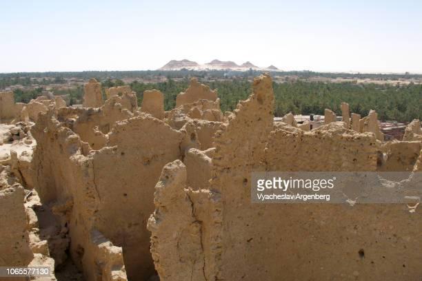 the ancient fortress of siwa (shali ghadi), egypt - argenberg ストックフォトと画像