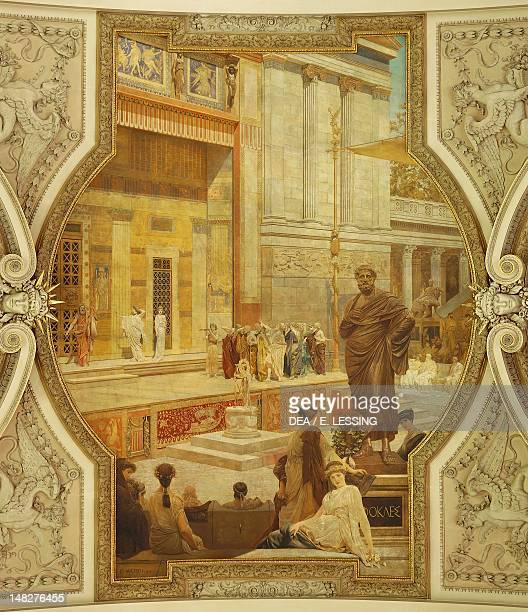 The Ancient Greek theatre of Taormina 18781888 by Gustav Klimt fresco Grand staircase of the Burgtheater Vienna