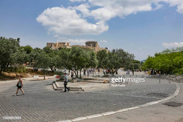 The ancient hill of Acropolis including the worldwide known Parthenon and remains of many ancient buildings of great architectural and historic...