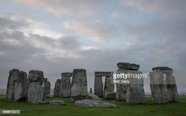 The ancient neolithic monument of Stonehenge near Amesbury on September 7 2016 in Wiltshire England To mark the 30th anniversary of Stonehenge...