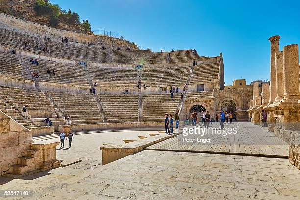 The ancient Roman Amphitheatre of Amman