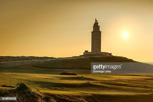 The ancient Roman lighthouse of tower of Hercules