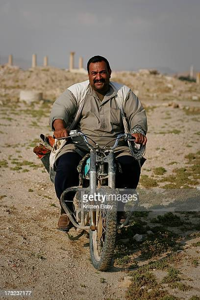 The ancient Roman ruins at Palmyra, set in a palm-lined oasis in the middle of the Syrian desert, provides livelihoods for hundreds of bedouin...