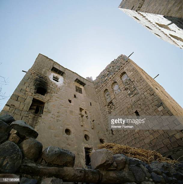 The ancient town of Shibam Exterior of one of the oldest multistoreyed houses surviving in Yemen Thin sheets of translucent alabaster are still used...
