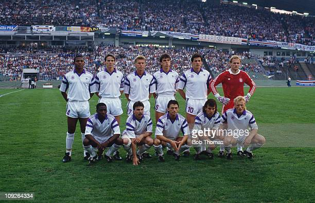 The Anderlecht team before their European Cup Winners' Cup final match against Sampdoria at Ullevi in Gothenburg Sweden 9th May 1990 Sampdoria won...