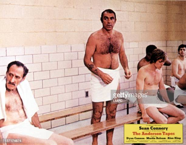 The Anderson Tapes lobbycard Stan Gottlieb Sean Connery Christopher Walken 1971