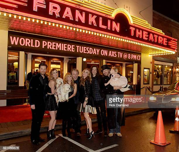 The Andertons Fletcher Emily Kate Doug Lindsay Jake Anthony Smith and McCartney Blaze Smith attend World Premiere debut party for AXS TV Docuseries...