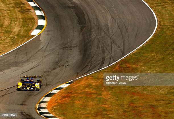 The Andretti Green Racing XM Satellite Radio Acura ARX-01B driven by Frank Montagny, Tony Kanaan and Marco Andretti during practice for the American...