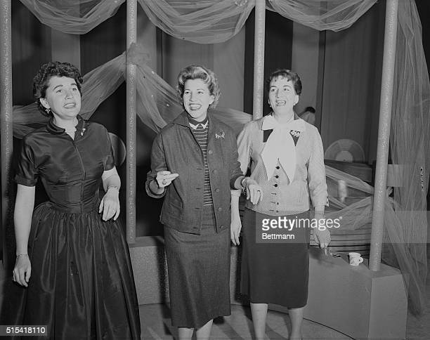 The Andrew sisters get together for the first time since their estrangement in 1954 for the CBSTV show Shower of Stars The show was aired on February...