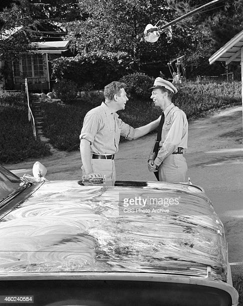 The Andy Griffith Show episode The New Housekeeper This is from season 1 episode 1 From left Andy Griffith and Don Knotts Image dated July 26 1960