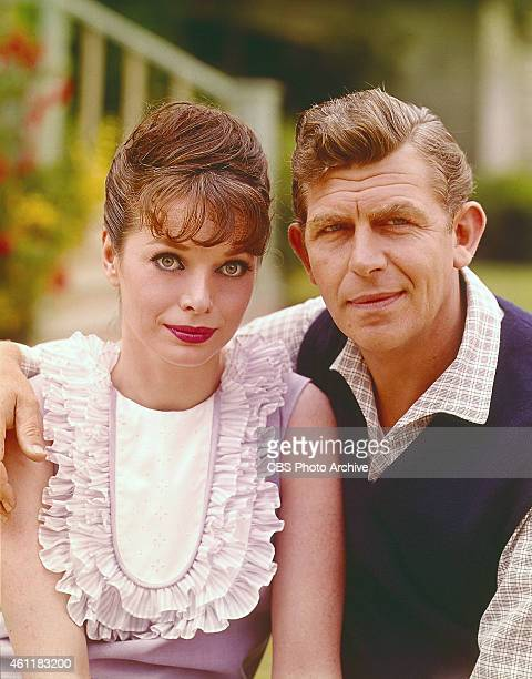 The Andy Griffith Show featuring Aneta Corsaut as Helen Crump and Andy Griffith as Sheriff Andy Taylor Image dated August 1 1965