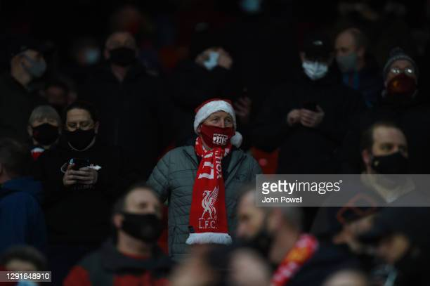 The Anfield Crowd Back on the Kop before the Premier League match between Liverpool and Tottenham Hotspur at Anfield on December 16, 2020 in...