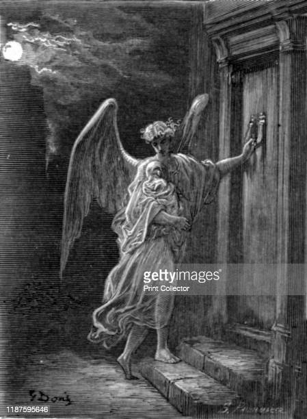 The Angel and the Orphan' 1872 From LONDON A Pilgrimage by Gustave Dore and Blanchard Jerrold [Grant and Co 7278 Turnmill Street EC 1872] Artist...