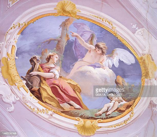 The angel comforts Hagar in the wilderness 17261739 by Giovanni Battista Tiepolo fresco Patriarchal Palace Guest Hall Udine