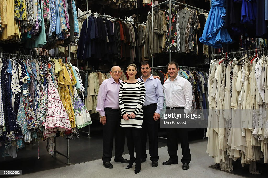 The Angel family (L-R) Tim, Emma, Jeremy and Daniel pose for a photograph at Angels Costume House on January 20, 2016 in London, England. Angels Costumes established in 1840 is in its 175th year, and is the longest-established and largest professional costume house in the world. The costumier is to receive the 'Outstanding British Contribution to Cinema Award' at the EE British Academy Film Awards ceremony at Londons Royal Opera House on Feb 14, 2016.